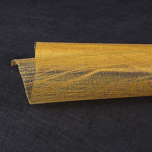 Gold Floral Mesh Wraps Metallic Thread - 21 Inch x 6 Yards