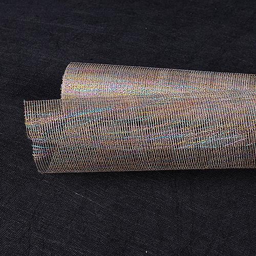 Natural Floral Mesh Wraps Metallic Thread - 21 Inch x 6 Yards